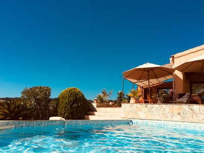 Photo for Provençal house sea view 180 °, quiet rest, heated pool 28 ° Haven of peace