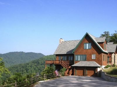 Photo for Hawks Haven / Amazing views, Game Rm, log & timber lodge - H'ville, Lake Lure, Asheville
