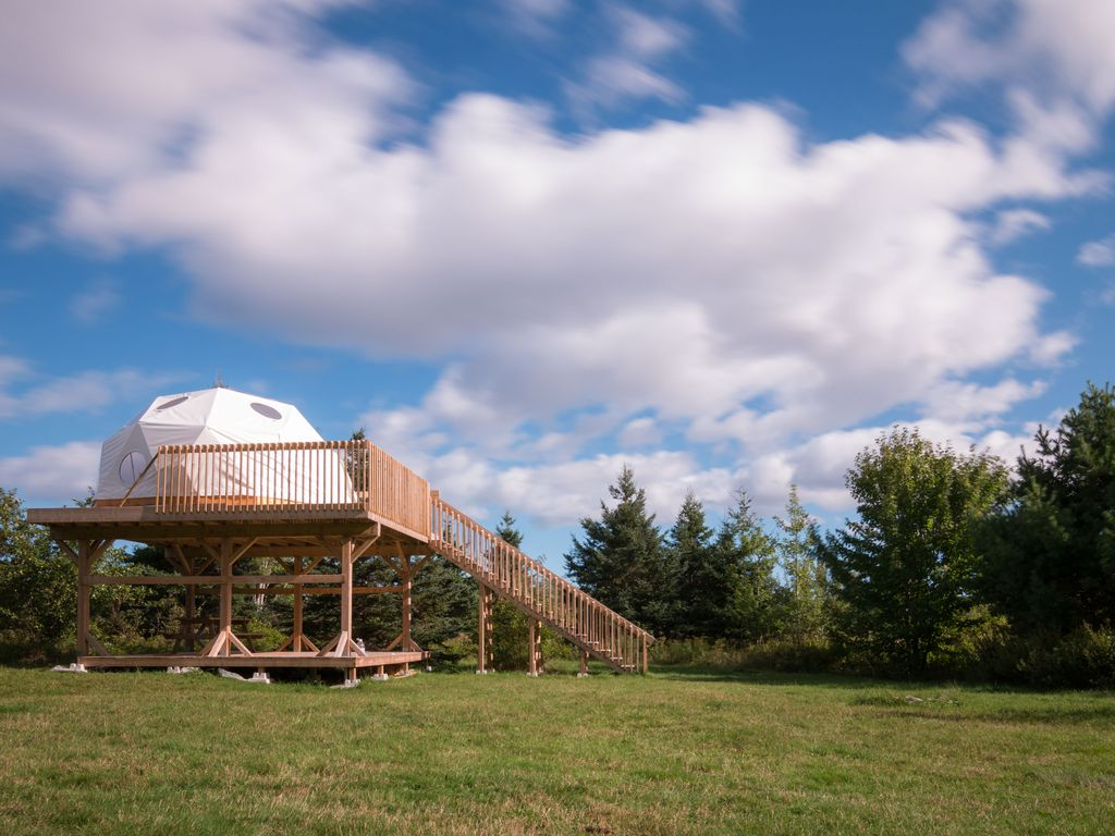 Sleep under the stars or in the forest in the magical domes at Cabot Shores