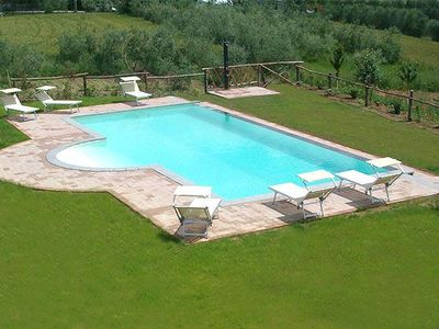 Photo for 2 bedroom Apartment, sleeps 4 in Creti with Pool and WiFi
