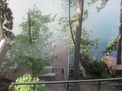 Photo for Lakefront Executive Home on Long Lake with private dock