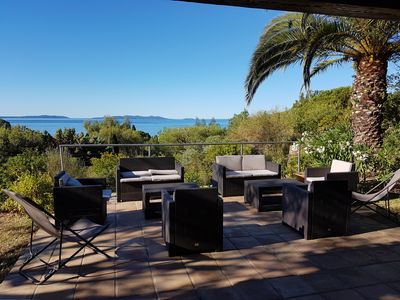 Photo for Family house with superb view of the islands - 5 min walk from the beach