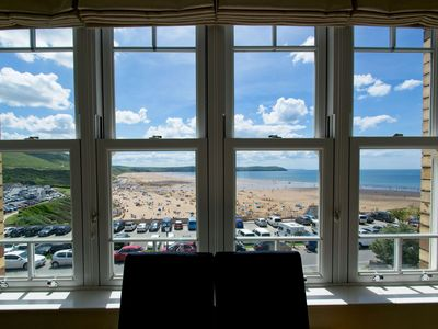 Photo for A stunning 3 bedroom, 3 bathroom 1st floor apartment with superb seaviews opposite main beach!
