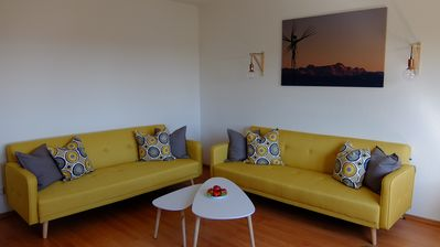 Photo for Apartment on Gehrenberg - overlooking Lake Constance and the Alps