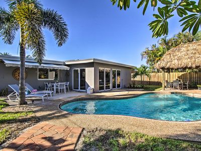Photo for NEW Palm Paradise Home w/Private Pool & Tiki Hut!