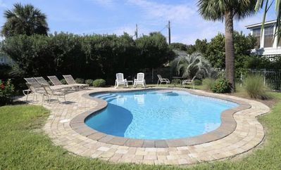 Saltwater pool With heater option.