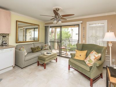 Photo for Deluxe Seaside Villa #218 Oceanside Flat - On the Ocean and Walk to Coligny.