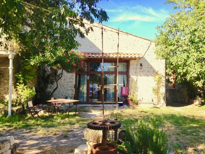 Photo for Large house in the heart of Languedoc. Pool, river, between sea & mountains.