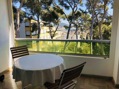 Photo for Nice T2 with terrace, seen sea, wifi, carpark, close beach and town center