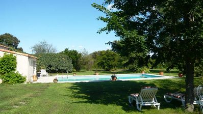 Photo for Mas with garden and pool in the countryside
