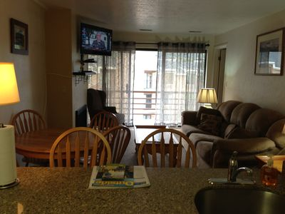 Enjoy a gas fireplace, LED TV with Blu-Ray DVD player, and breakfast bar.