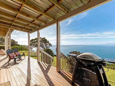Photo for A 3 bedroom Premium home offering the most spectacular views over Onetangi Beach