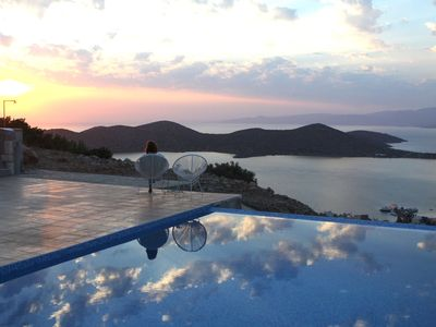 Photo for Modern villa with private infinity pool and breathtaking view