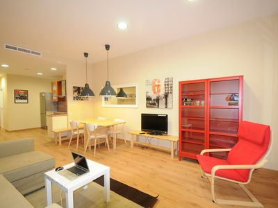 Photo for Chic & Spacious Flat | Family-Friendly | Parking WIFI 15m Ramblas Walking Distance