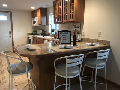 Welcome to our very nice home, with a super nice kitchen and bar.