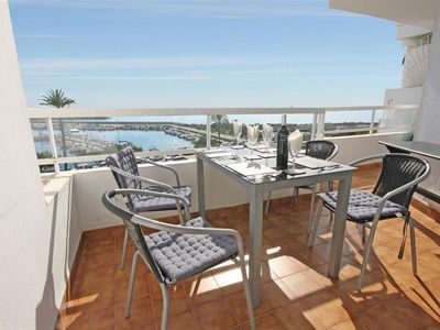 Photo for Great apartment with sea views, Internet + Aircon, Estepona marina - close to beaches and amenities