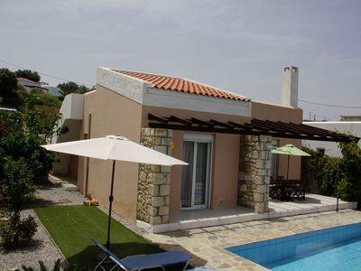 Photo for Nice villa with private swimming pool in Loutra, NW Crete