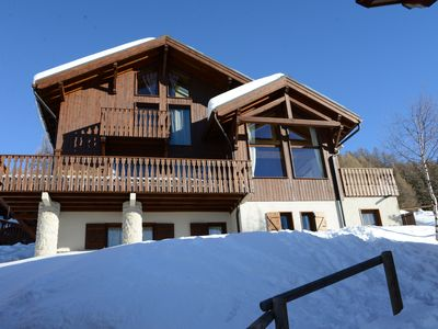 Photo for CHALET BARBE BOUC directly on the slopes. Spectacular view.
