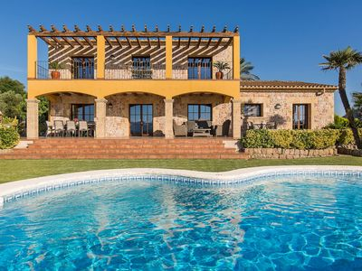 Photo for Luxurious Villa with Pool, Hot Tub, Garden, Terrace, A/C, & Wi-Fi ; Pets Allowed