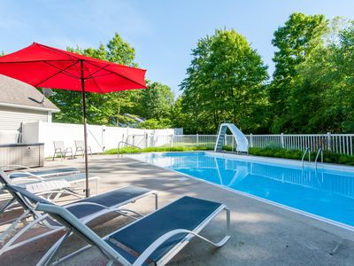 Photo for Pool, Hot Tub, Ping Pong & Screened Porch w/Fireplace Overlooking Wooded Ravine