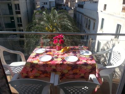 eating time on the terrase with the nice view.