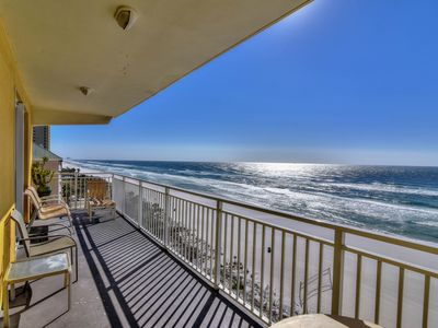 Photo for Modern beach view condo with shared hot tub and pool, walk to the beach!