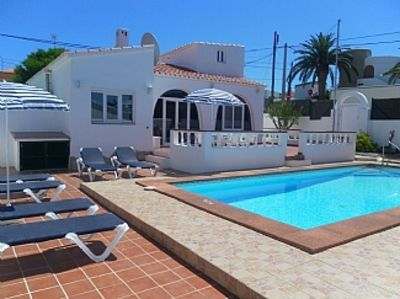 Photo for South facing detached Villa with Private Pool, Air Con, Free Wi-fi and UK TV.