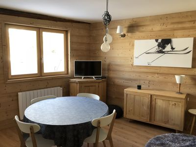 Photo for Apartment T 3 new, sleeps 5, heart Monetier Les Bains, 300 m from the slopes