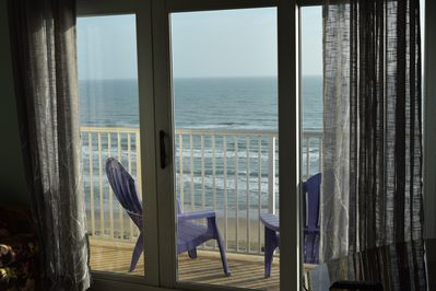 Imagine sitting on the balcony listening to the Gulf waves