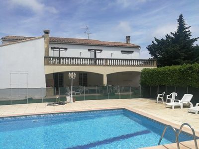 Photo for Large house 10 km from the sea 10x5 protected swimming pool. 1500m2 garden. 6 bedrooms.
