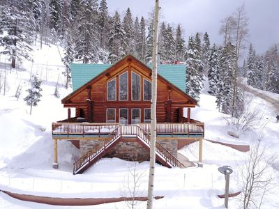 Photo for Ski In - Ski Out Luxurious Log Home in Taos Ski Valley, New Mexico