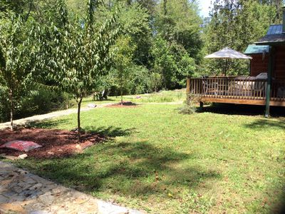Photo for Secluded Cosy Cabin on 650ft creek on 2 acres+