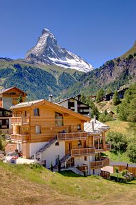 Photo for Bright duplex apartment with sauna in a great mountain panorama and Matterhorn view