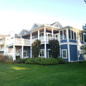 Photo for Carolina Style Home Overlooking Lake Michigan. Hot Tub, Fire Pit, Tram to beach