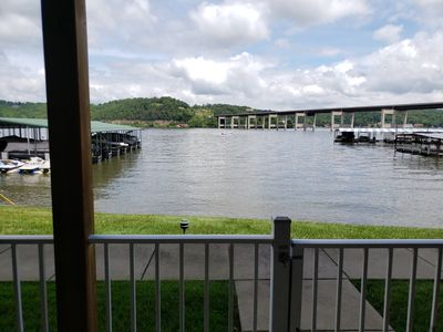 Photo for 3br, 2Ba condo - Walk-out to the lake!  Easy access to highway, but on the water
