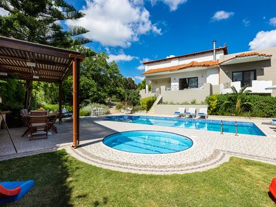 Photo for Alonia Villa, 50m2 pool,  children's pool, close to shops! Stunning Views!