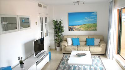 Photo for Luxury Marbella 2 bed apt. Wonderful sea and mountain views. Golf, Water Sports