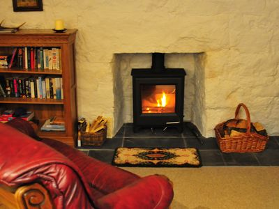 Photo for Cosy, traditiional stone cottage in Glen Nevis with wood burning stove.