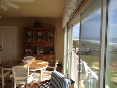 Perfect spot for breakfast on the lanai overlooking the ocean