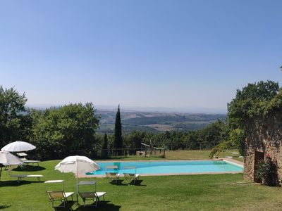 Photo for Romantic farm apartment 25KM to Siena city centre, stunning views and large pool