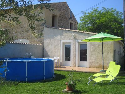 Photo for Cottage in the heart of the vineyard, near the Ardèche Gorges and the Chauvet Cave