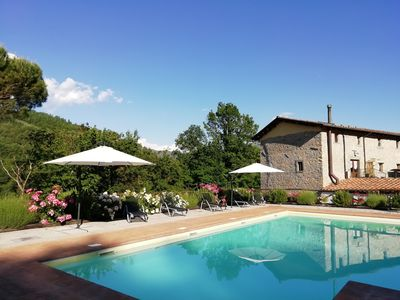 Photo for Large farmhouse, Pool with whirlpool, BBQ, Garden, great View, near Beaches