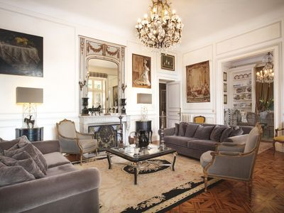Photo for Stunning 180m2 Art Nouveau apartment 8 mins from beach in Cannes