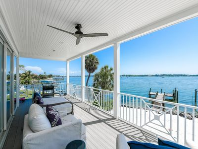 Photo for SPECTACULAR LUXURY BAY FRONT HOME - HEATED POOL/SPA & ROOFTOP VIEWS - BOAT DOCK
