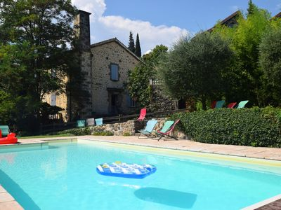 Photo for Large house in old estate in Ardeche with swimming pool and immense grass garden