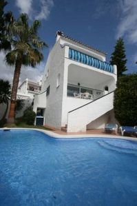 Photo for Nerja: Nice house with private pool near the beach, WIFI and air conditioning