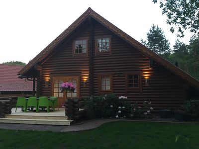 Photo for Log Cabin with Wi-Fi: DREAMY IDYLLE DIRECTLY ON THE LAKE ""