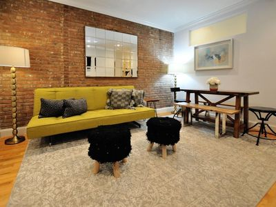 Creatively decorated living room space