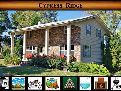Photo for Cypress Ridge } Peaceful Country Setting / Pool Table / Five minutes from the National Park