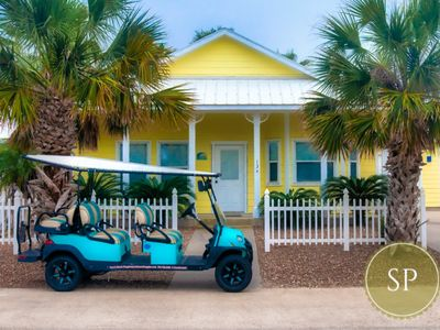 Photo for 134RD-COASTAL CUTIE, 3/2 SLEEPS 8, GOLF CART BOARDWALK, 2 POOLS, DOG FRIENDLY